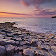 The Giants Causeway Sunset, Northern Ireland Poster