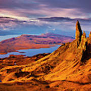 The Old Man Of Storr At Sunrise, Isle Of Skye Poster