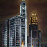 The Wrigley Building and Tribune Tower Poster