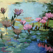 Times Between - water Lilies Poster