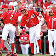 Todd Frazier, Homer Bailey, and Zack Cozart Poster