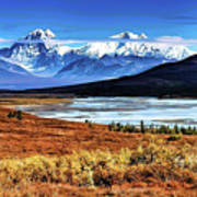 Traveling the Denali Highway in Alaska Poster