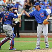 Travis Wood and Miguel Montero Poster