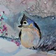 Tufted Titmouse in the Snow Poster