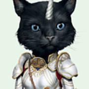 Unicorn Black Cat Poster