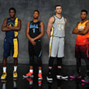 Victor Oladipo, Larry Nance, and Donovan Mitchell Poster