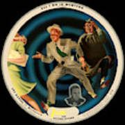 Vogue Record Art - R 714 - P 22, Yellow Logo - Square Version Poster