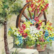 Wheel Of Flowers Poster