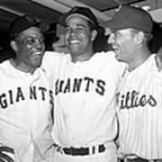 Willie Mays, Juan Marichal, and Johnny Callison Poster