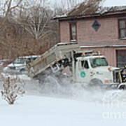 Ohio Snow Plow Art Print