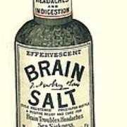 1890s Uk Brain Salt Headaches Humour Art Print