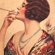 1920s Usa Women Cigarettes Holders Art Print