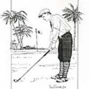 1920's Vintage Golfer Art Print