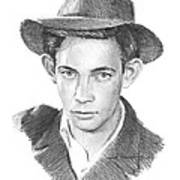 1930s Uncle Pencil Portrait Art Print