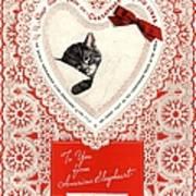 1934 1930s Usa Cats Trains Railroads Art Print