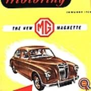 1950s Uk Cars Mg Magnette Covers Art Print