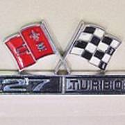 427 Turbo Jet Corvette Emblem Art Print