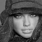 # 5 Adriana Lima Portrait Art Print