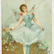 A Ballerina Balances A Liebig Art Print