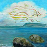 A Cloud Over The Sea Art Print