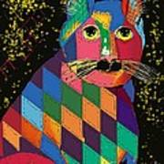 Quilted Cat Art Print