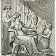 A Roman Lady Has Her Hair Done Art Print