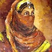 A Woman Art Print by Negoud Dahab