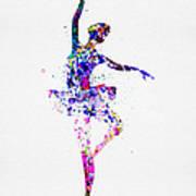 Ballerina Dancing Watercolor 2 Art Print