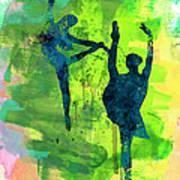 Ballet Watercolor 1 Art Print