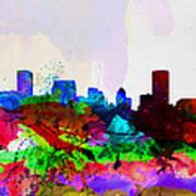 Baltimore Watercolor Skyline Art Print