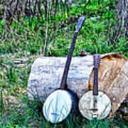 Banjos At The Woodpile Art Print