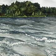 Big Muskallunge Lake  Art Print by Helen Klebesadel