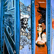 Bluesy Skateboard Art Art Print