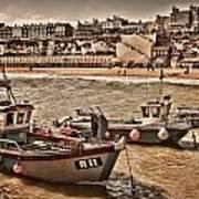 Boats At Broadstairs Art Print