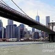 Nyc Skyline-brooklyn Bridge Art Print