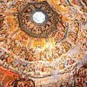 Brunelleschi Cupola Of Florence Duomo. Art Print