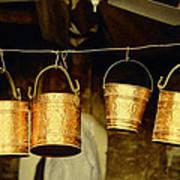 Buckets At Esfahan Market Art Print