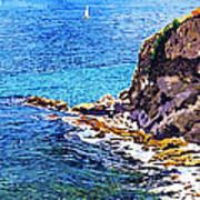 California Coastline  Art Print by David Lloyd Glover