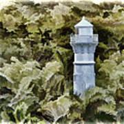 Canal Beacon - Panama Art Print
