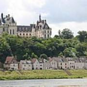 Chateau De Chaumont Stands Above The River Loire Art Print