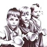 Children Should Not Need Food ... Art Print
