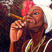 Cigar Lady Art Print