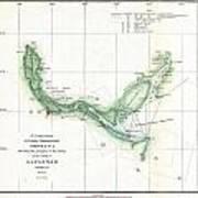 Coast Survey Chart Or Map Of The Savannah River Ans Savannah Georgia Art Print