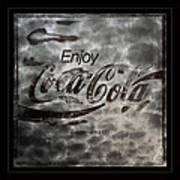 Coca Cola Sign Grungy Red Retro Style Art Print