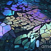 Cut Glass Mosaic  Art Print