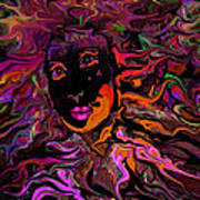 Desire On Fire Art Print
