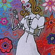 Dia De Los Muertos Nurse Art Print