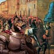 Doberman Pinscher Art -entree De Charles Viii Dans Florence Art Print