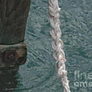 Dock Rope And Wood Art Print