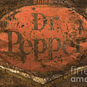 Dr Pepper Vintage Sign Art Print